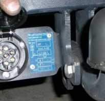 Схема подключения прицепного устройства 7 контактов