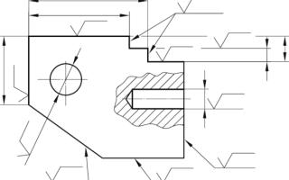 Шероховатость по контуру на чертеже