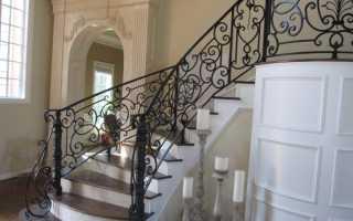 Фото перил для лестниц из металла