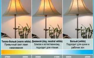 Световая температура 6500 к что такое