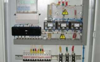 Схема подключения трехфазного счетчика через трансформатор тока