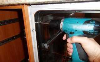 Как поставить встраиваемую посудомоечную машину