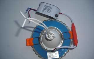 Как подключить встраиваемый светильник с подсветкой