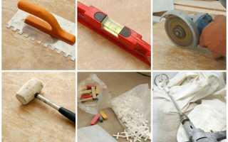Какие инструменты нужны для укладки плитки