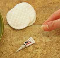 Чем отмыть супер клей от пальцев
