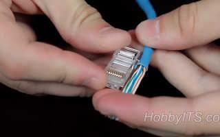Как сделать обжимку интернет кабеля