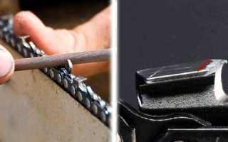 Как правильно точить цепь бензопилы напильником штиль