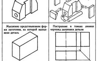 Как начертить главный вид детали