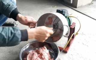 Самодельная мясорубка с двигателем от стиральной машины
