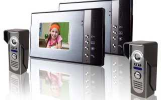 Видеодомофоны для частного дома схема подключения