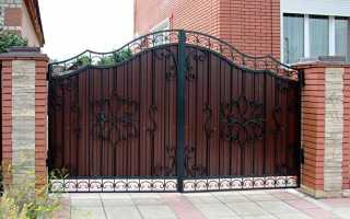 Железные ворота и калитка фото