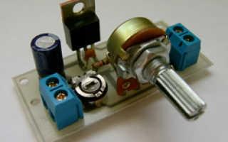 Регулятор оборотов 12 вольтового двигателя своими руками