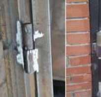 Как варить петли на ворота из профтрубы