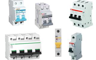 Как подобрать автоматический выключатель по мощности потребителя