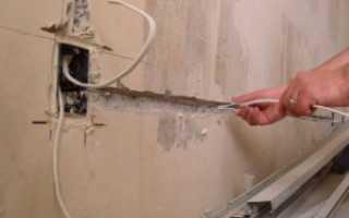 Как проштробить розетку в бетонной стене