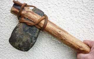 Как сделать топор из дерева и камня