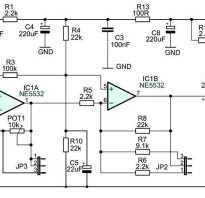 Схема микрофонного усилителя для динамического микрофона