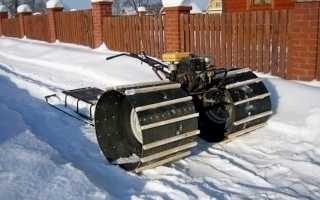 Гусеничный снегоход из мотоблока своими руками