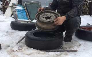 Как разбортировать колесо на станке