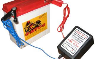 Как поставить на зарядку аккумулятор от машины