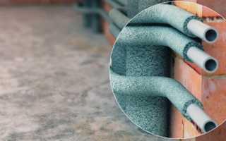 Материал для утепления труб отопления