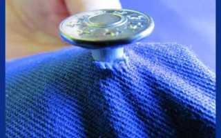 Как убрать клепку с джинс
