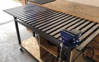 Сварочный стол в гараж своими руками