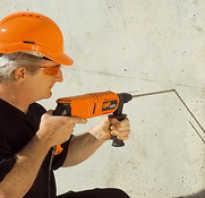 Чем проделать отверстие в бетонной стене